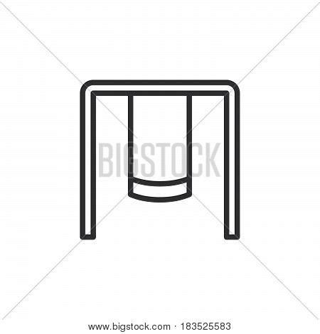 Swing Outline Exle by Playground Swing Set Line Icon Vector Photo Bigstock