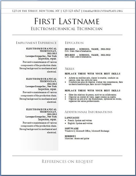 Best Free Resume Template by Resume Templates Free 2017 Resume Builder