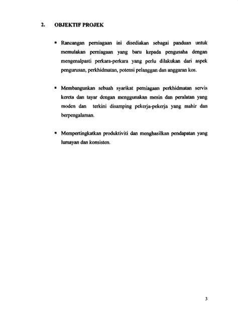 format proposal untuk memulakan perniagaan proposal bengkel perniagaan iprotect automotif rujukan