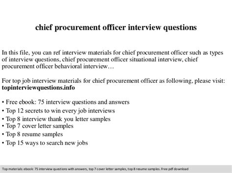 Chief Procurement Officer by Chief Procurement Officer Questions