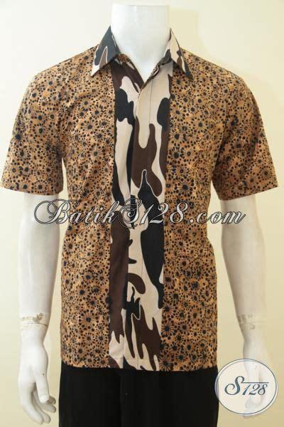 Batik Army jual batik lengan pendek cap smoke kombinasi motif
