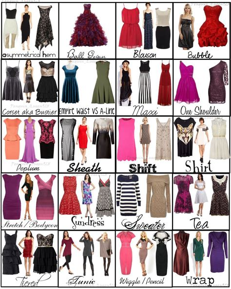 ebay fashion ebay dress types chart different types of style and charts