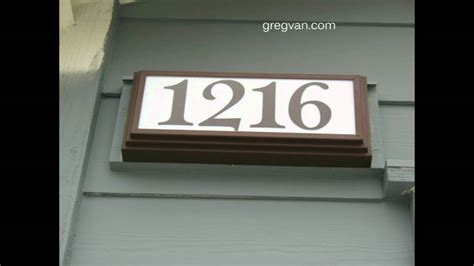 light up address plaque lighted address number signs gallery