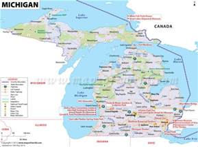 us map showing airports michigan map mi 11th largest state in the us