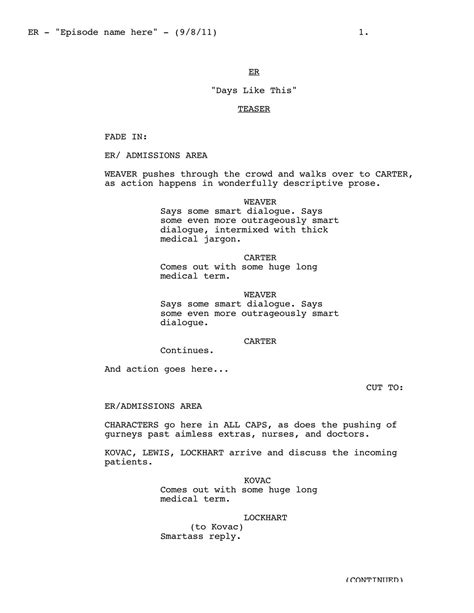 script templates for pages writing for film tv script format templates