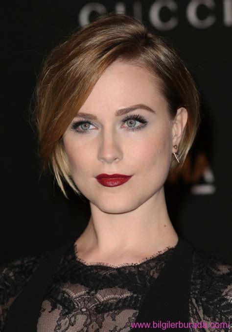 2015 side swoop hair cuts evan rachel wood latest short straight bob haircut with
