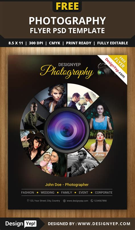 free photographer templates free photography flyer psd template designyep
