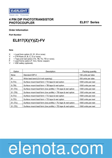 el datasheet   kb everlight pobierz  elenotapl