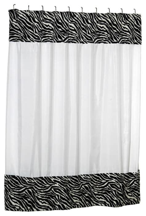 faux fur curtains carnation home fashions serengeti faux fur trimmed shower