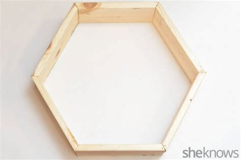 trendy diy stained hexagon wall shelves shelterness