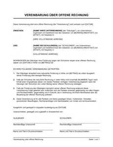 Muster Offene Rechnung Vereinbarung 252 Ber Offene Rechnung Vorlagen Und Muster Biztree