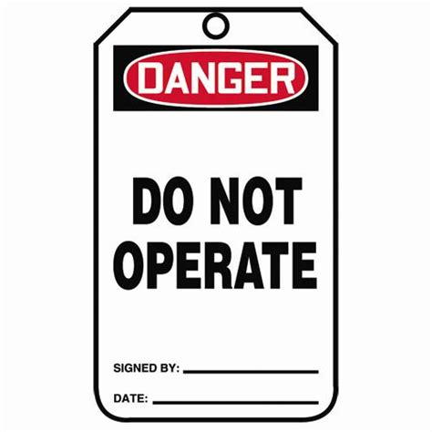 printable danger tags do not operate tags danger tags osha accident