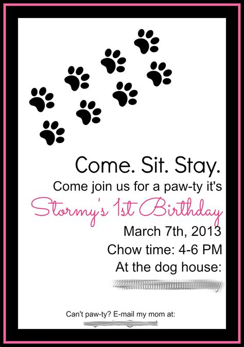 puppy birthday invitations keeping my cents 162 162 162 birthday
