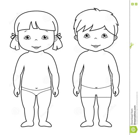 coloring pages girl and boy vector coloring page of cute baby boy and girl stock