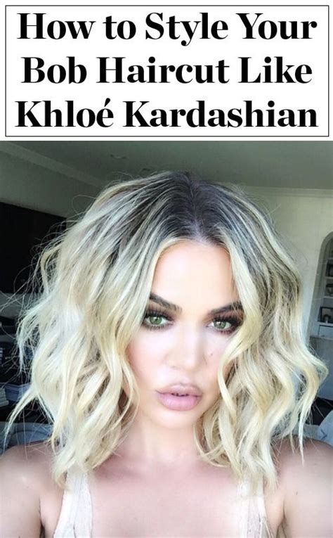 how to ask hairdresser for textured lob khlo 233 kardashian s best bob styles from textured waves to