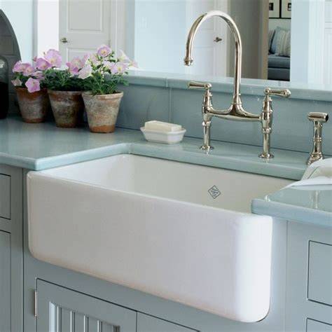 farmhouse kitchen sink choices fireclay vs enamel vs