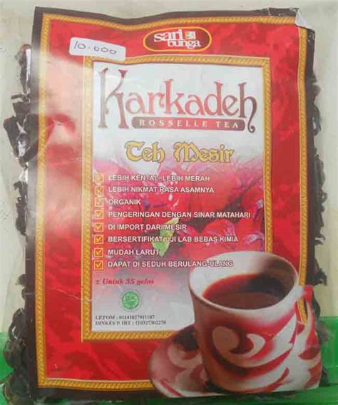 Tea Teh Jahe Merah karkadeh rossella tea teh mesir rumahherbalciganjur