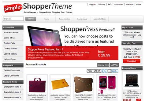 themes wordpress shopping cart free simpleshopper shopping cart theme wordpress shopping cart