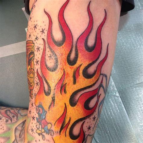 With Flames Tattoos 65 Burny Flame Tattoos