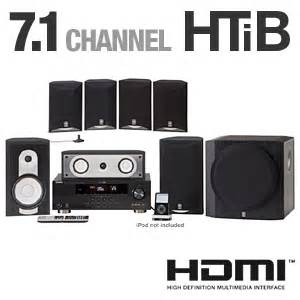 yamaha yht 791bl home theater system 7 1 channel 1080p
