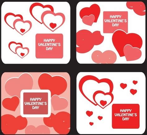free valentines day card templates greeting card templates for day free vector in