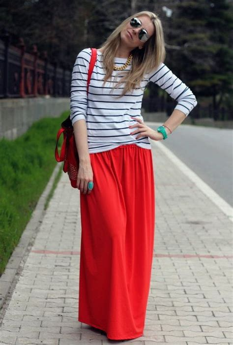 different ways to wear your maxi skirt in summer sortashion