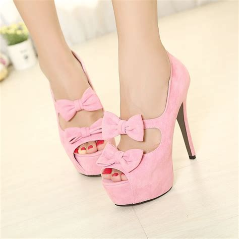 pink bow heels seriously it s shoes