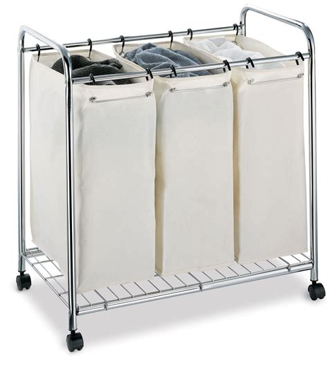 three section laundry her neu home chrome three section laundry sorter