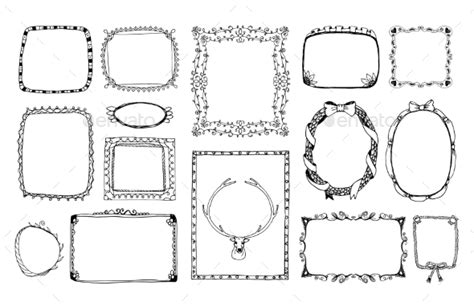 how to draw doodle frames doodle frames by neyro2008 graphicriver