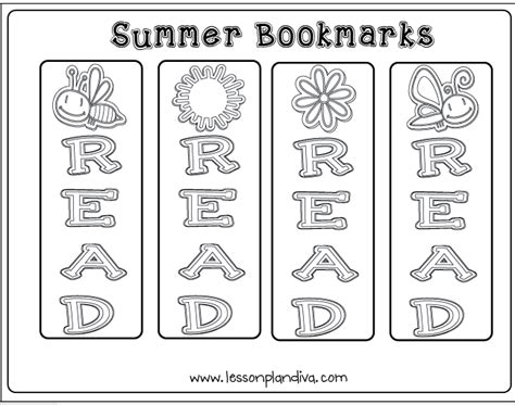 printable summer reading bookmarks summer reading and writing pack the lesson plan diva