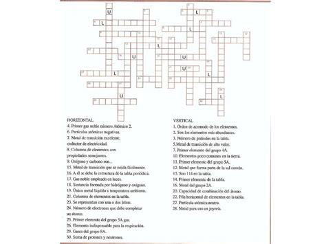 preguntas faciles sobre la tabla periodica crucigrama de la tabla periodica
