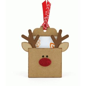 Reindeer Gift Card Holder - silhouette design store view design 71477 reindeer pocket gift card holder