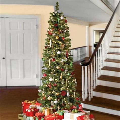 decorating skinny christmas tree adorable pencil tree ideas a festive space saving solution