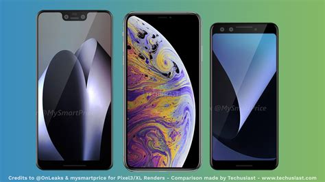 pixel 3 and 3xl size comparison with iphone xs xs max and xr googlepixel