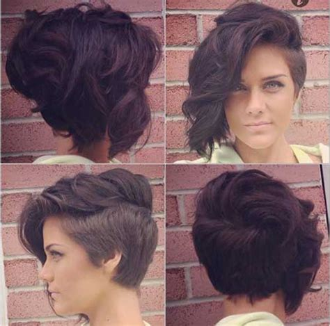 curly short hair with shaved down side must try short hairstyles 2016 trends short hairstyles