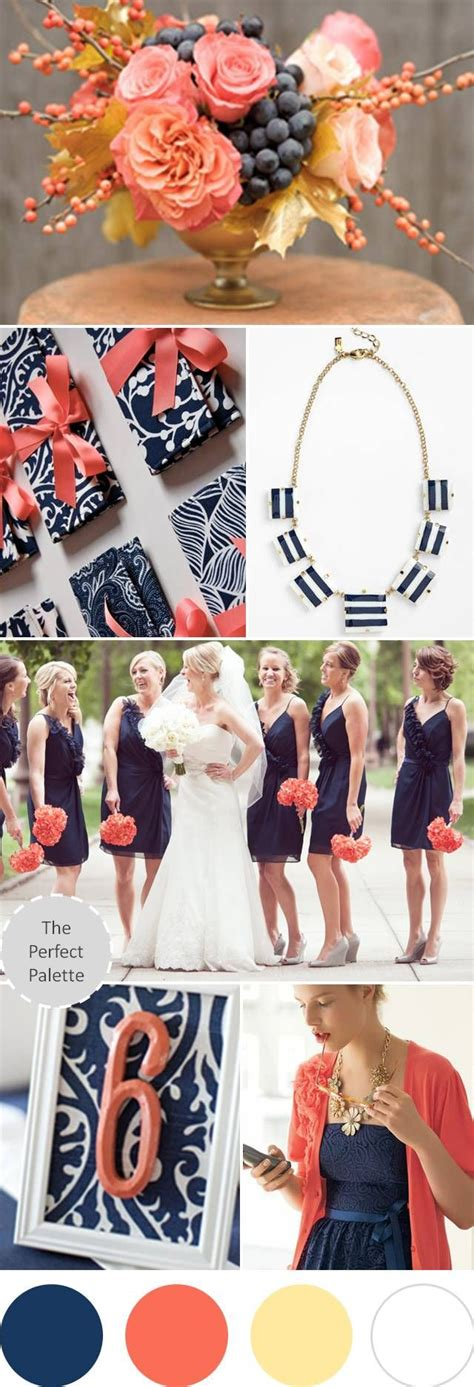 navy blue and coral wedding wedding colors i love navy blue coral antique gold