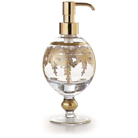 baroque bathroom accessories baroque gold soap pump arte italica