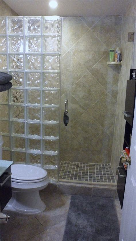 glass block shower bathroom ideas glass