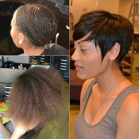 sew in weave short hair atlanta best 20 short sew in hairstyles ideas on pinterest