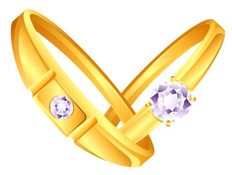 i you ring images wedding golden rings png image
