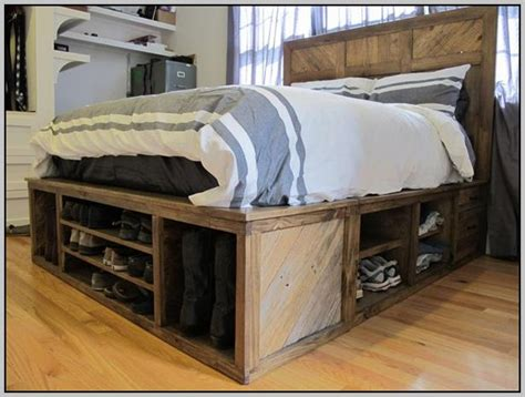 Bed Frames With Storage Space Size Bed Frame With Storage Headboard Bedroom Home Decorating Ideas Kexwrqel53