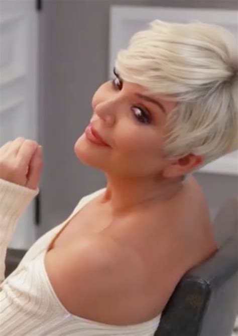 kris jenner blonde hair kris jenner finally answers did tyga knock up kylie or