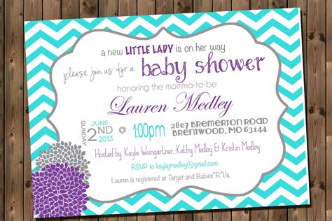 Lavender Baby Shower Invitations by Theme Purple Damask Baby Shower Invitations Purple Baby