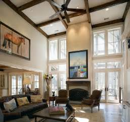 small room with high celings sizing it down how to decorate a home with high ceilings