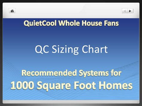 whole house fan sizing quiet cool sizing options
