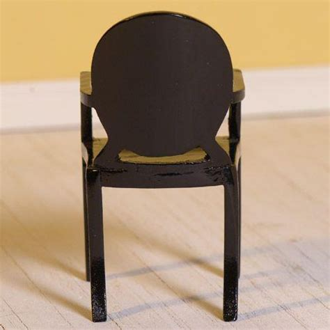 Black Ghost Chair by The Dolls House Emporium Black Ghost Chair