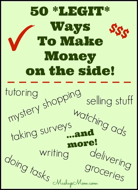 50 Ways To Make Money Online - 50 legit ways to make money on the side mashup mom