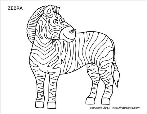 zebra  printable templates coloring pages