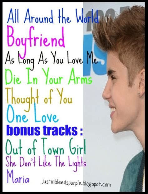 justin bieber music names justin bieber believe album song list released picture