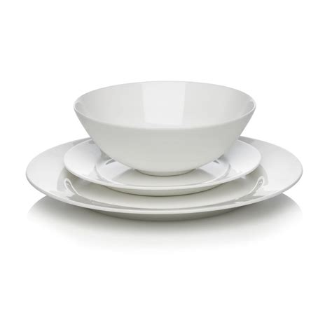 wilko best bone china dinner set white 12pcs at wilko